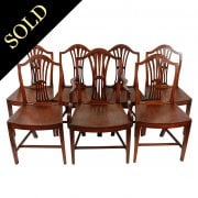 Set of 6 plus 1 Georgian Mahogany Chairs