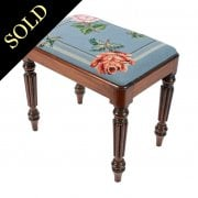 Gillows Design Mahogany Stool