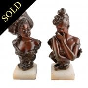 Pair of Bronze Ladies After Georges Van Der Straeten