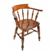 Satin Birch Captains Arm Chair