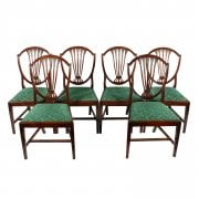Set of Six Hepplewhite Chairs