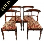 Four William IV Rosewood Chairs