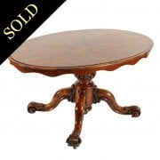 Oval Victorian Walnut Table