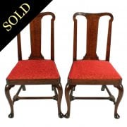 Pair of Walnut Queen Ann Chairs