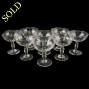 Set of Eight French Champagne Glasses