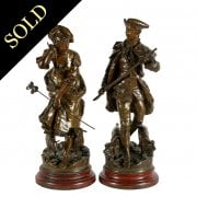 Pair of French Bronzed Metal Figures