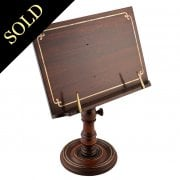 Regency Brass Inlaid Reading Stand
