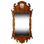 George II Style Walnut & Gilt Wall Mirror
