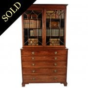Georgian Mahogany Secretaire Bookcase