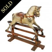 Edwardian Carved Wood Rocking Horse