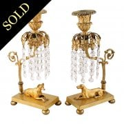 Pair of Regency Gilt Brass Girandoles