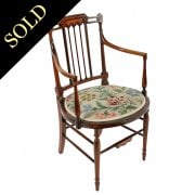 Edwardian Inlaid Elbow Chair