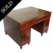 Regency Mahogany Partner's Desk
