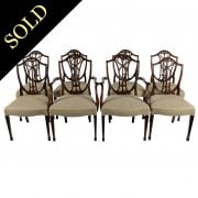 Set of Eight Hepplewhite Style Chairs