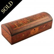 Continental Dome Top Marquetry Box
