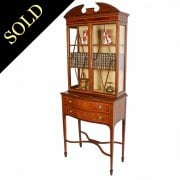Edwardian Mahogany Glazed Top Cabinet