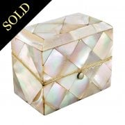Mother of Pearl Scent Bottle Box
