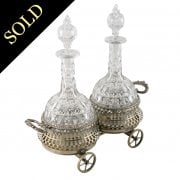 Silver Plated Coaster Wagon & Decanters