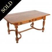 Oak Library Table from Skibo Castle