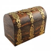 Coromandel Wood & Gilt Brass Tea Caddy