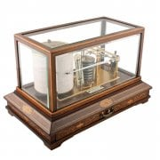 Edwardian Inlaid Mahogany Barograph SOLD