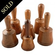 Set of Six Treen Dummy Bells