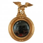 Regency Gilt Wood Convex Mirror SOLD