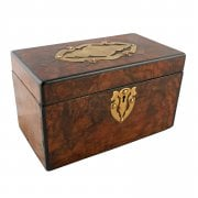Victorian Burr Walnut Tea Caddy