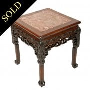 19th Century Chinese Rosewood Stand