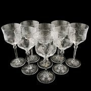 Set of 8 Cut & Etched Wine Glasses SOLD