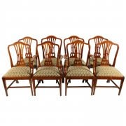 Set of Eight Georgian Hepplewhite Chairs