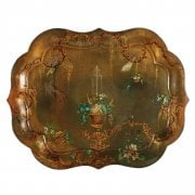 Large Victorian Toleware Tray