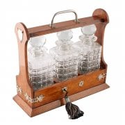 Edwardian Oak Decanter Tantalus