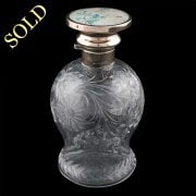 George V Silver Top Perfume Bottle