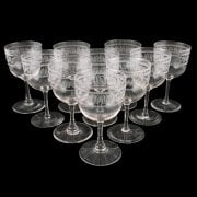 Ten Edwardian Wine Glasses