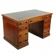 Victorian Oak Pedestal Desk SOLD