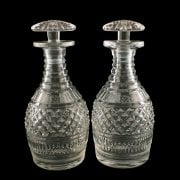 Pair of Georgian Port Decanters