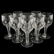 Eight Hollow Stem Wine Glasses