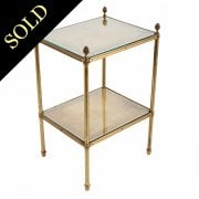 Gilt Brass Two Tier Étagère