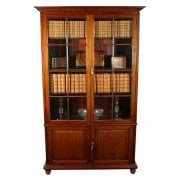 Mahogany Two Door Cabinet Bookcase