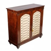 Regency Mahogany Two Door Cabinet