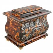 Georgian Tortoise Shell Tea Caddy SOLD