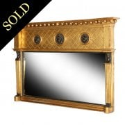 Regency Gilt Wood Overmantel Mirror
