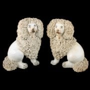Pair of Victorian Staffordshire Poodles