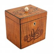 18th Century Satinwood Tea Caddy
