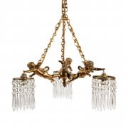 20th Century Winged Cherub Chandelier SOLD