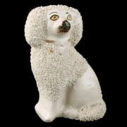 Victorian Staffordshire Pottery Poodle