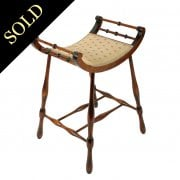 Edwardian Stained Birch Dressing Stool