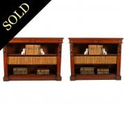 Pair of Victorian Open Bookcases