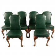 Set of Six Queen Ann Style Chairs